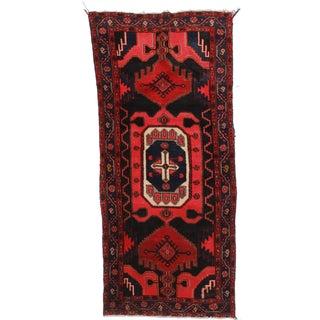 """Vintage Wool Persian Hamedan Runner - 3'6"""" X 7'7"""""""