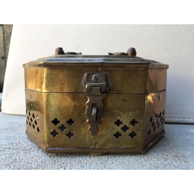 Hexagonal Brass Cricket Box - Image 8 of 8