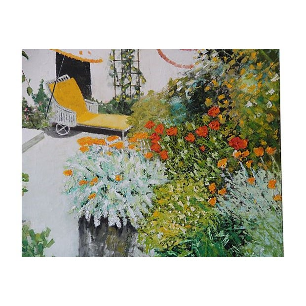 Large Scale Oil Painting - Backyard Garden - Image 3 of 4