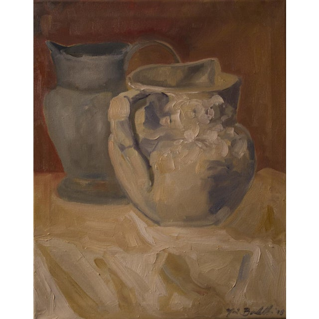"""""""Two Water Vessels"""" Oil Painting - Image 2 of 3"""