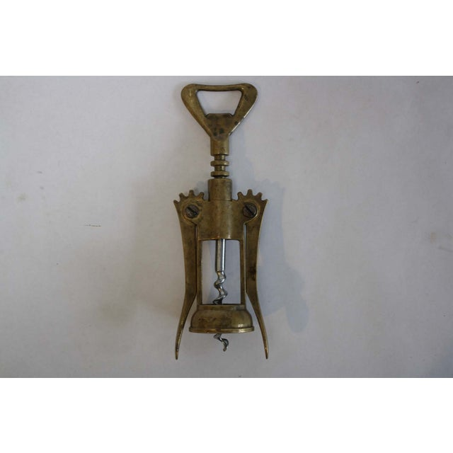 Image of Vintage Italian Brass Corkscrew