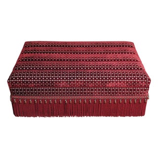 Kenneth Alpert Custom Red Velvet Storage Ottoman