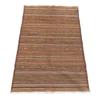 Striped Scatter Afghani Kilim - 3′ × 4′7″