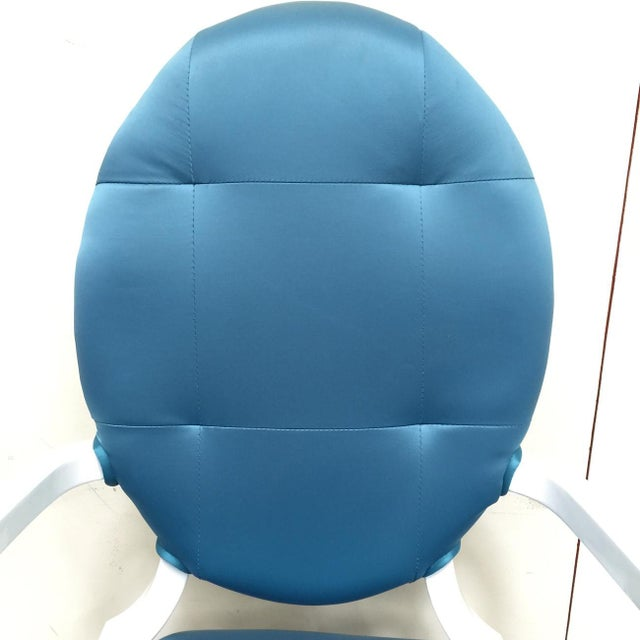 Modrest Versus Emma Fabric Turquoise Chair - Image 4 of 6