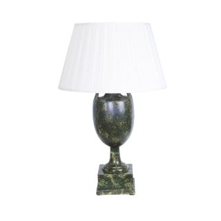 Faux Marble Urn Lamps