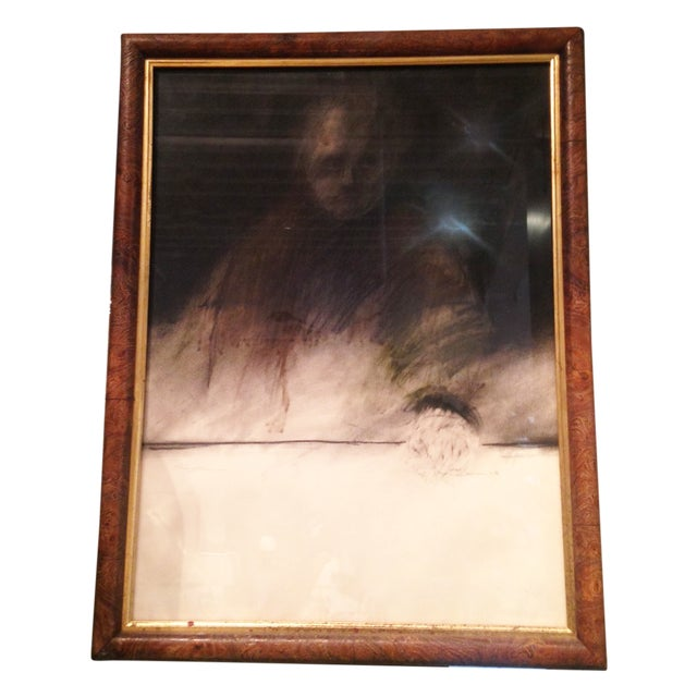 "Framed Charcoal Drawing of Man ""O'Conner"" - Image 1 of 5"