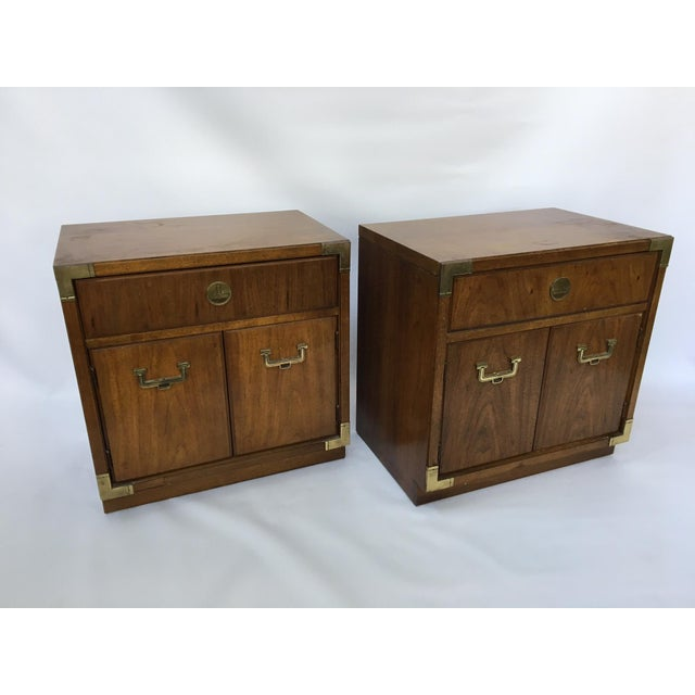 Thomasville Huntley Campaign Nightstand - A Pair - Image 3 of 4