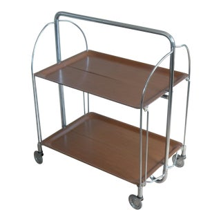 Mid-Century Foldable Bar Cart