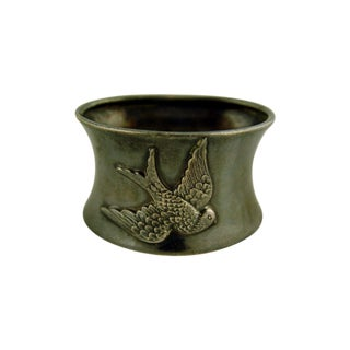 Silverplate Swallow Napkin Ring