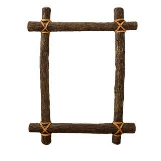 Rustic Ash Log Frame