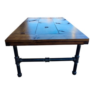 Industrial Wood & Metal Coffee Table