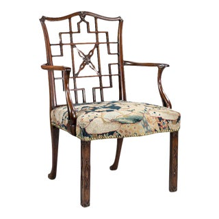 George III Scottish Mahogany Armchair