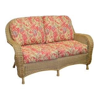 Summer Classics Hand Woven Resin Wicker Loveseat