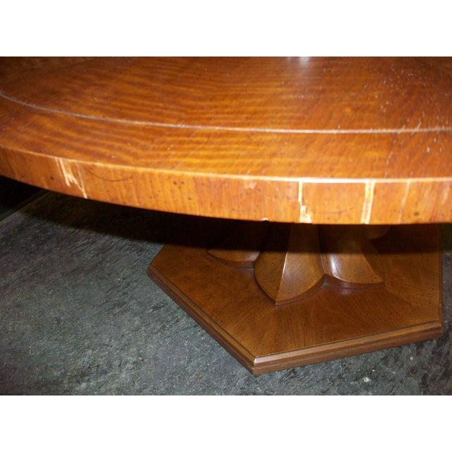60 Mid Century Modern Vintage Half Moon Coffee Table: Vintage Henredon Round Coffee Table