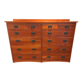 Mission Style 12 Drawer Cherry Mule Chest