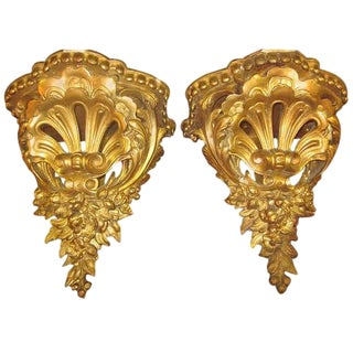 A Pair of Gilded Wall Brackets