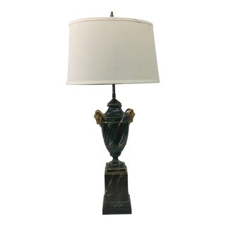 1940s Restored Ormolu Ram Head Table Lamp