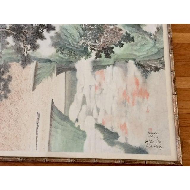Vintage Asian Seaside Painting - Image 8 of 11