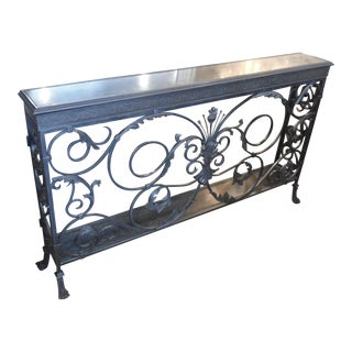"""Theodore Alexander """"A Highly Wrought Console"""" Iron Narrow Console, Claw Feet"""