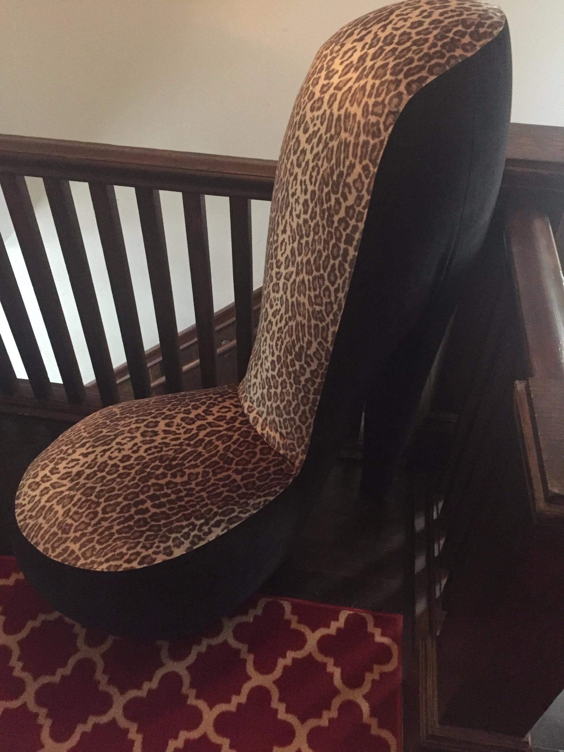Leopard Print High Heel Shoe Chairs   A Pair   Image 4 Of 8