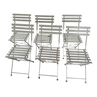 French Bistro Metal Outdoor Patio Chair, Set of 6