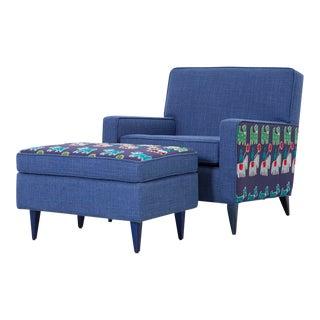 Paul McCobb Chair + Ottoman