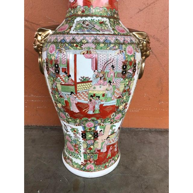 Rose Medallion Floor Vase - Image 4 of 9