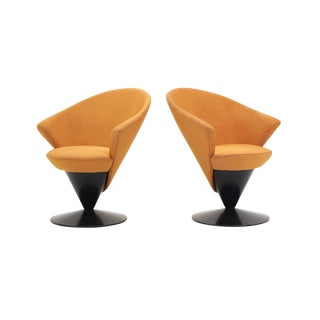 Pair of Adrian Pearsall for Craft Associates Swivel Cone Chairs