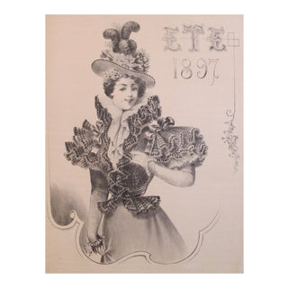 Original 1897 French Fashion Poster, Summer (Eté)