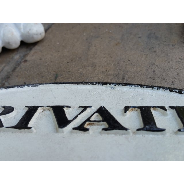 "Cast Iron ""Private"" Sign - Image 3 of 3"