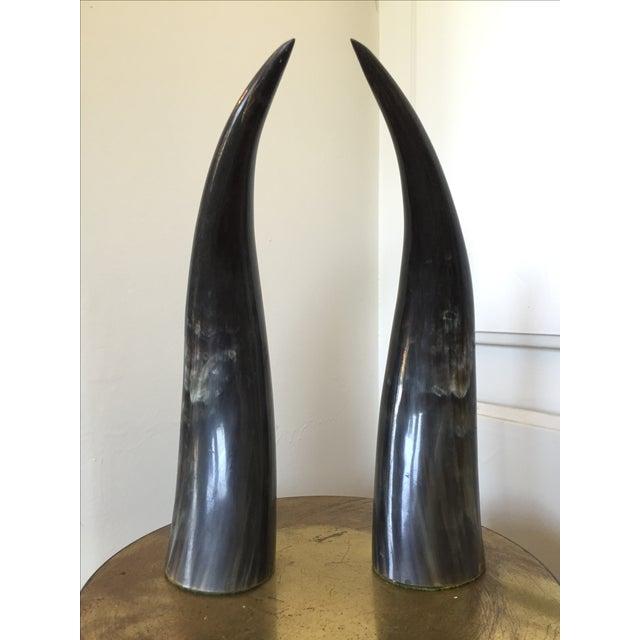 Sculptural Horns - A Pair - Image 3 of 3