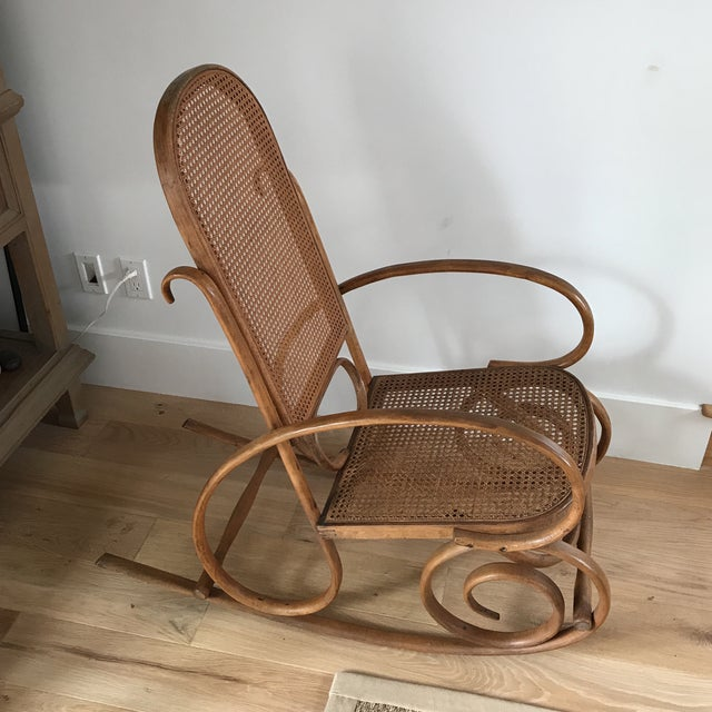Spanish Bentwood Rocking Chair Rocker - Image 4 of 10