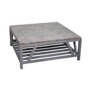 Gray Marble Top Coffee Table