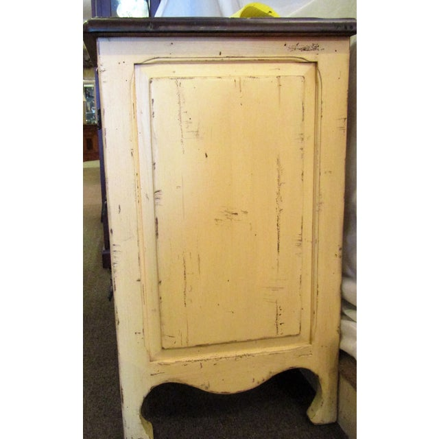 Century Furniture Yellow Paint Rustic Chest of Drawers - Image 6 of 6