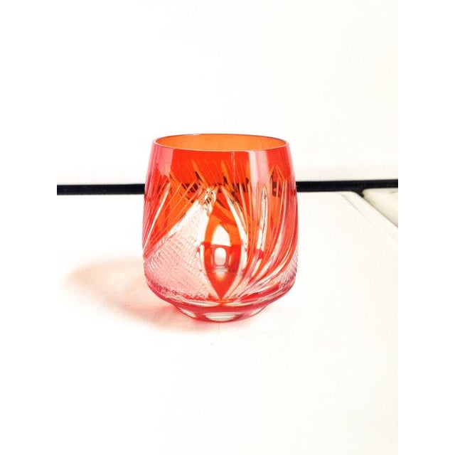 Red Bohemian Glass Decanter Set - Image 4 of 6