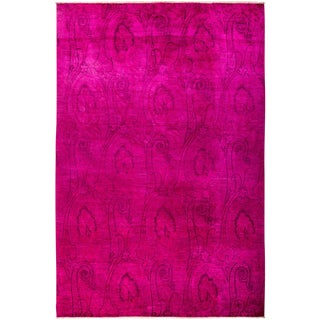 "Vibrance Over Dyed Hand Knotted Area Rug - 8'1"" X 12'2"""