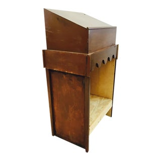 Vintage Hand Made Wooden Podium