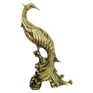 Vintage Large Brass Pheasant