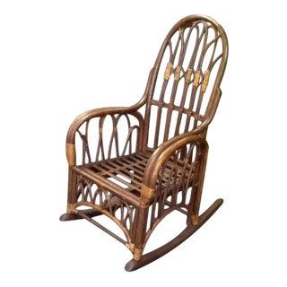Boho Rattan Rocking Chair