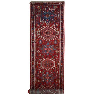 "1920s Antique Handmade Persian Karajeh Runner - 2'7"" x 11'"