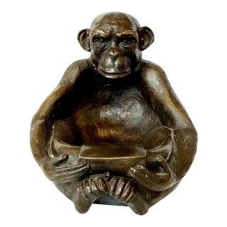 Vintage Bronze Monkey Catchall