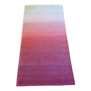 Ombre White Pink Rug - 2' X 4'