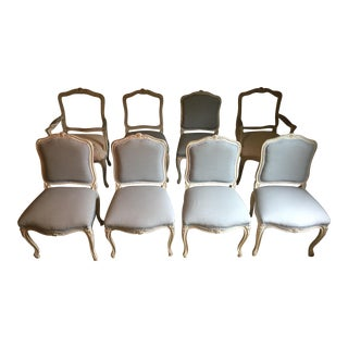 Antique Louis XV Painted Dining Chairs - Set of 8