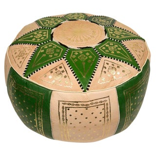 Green Traditional Moroccan Pouf