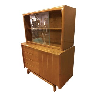 Edmund Spence, Swedish Buffet and Hutch in Maple, Mid-Century Gem 1950s