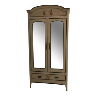 Children's Antique French Bedroom Furniture Set - Armoire (2 of 3 Pieces)