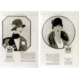 """Knox the Hatter"" 1925 Advertisments - A Pair"