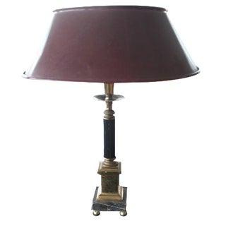 E.F. Chapman Brass & Marble Column Lamp