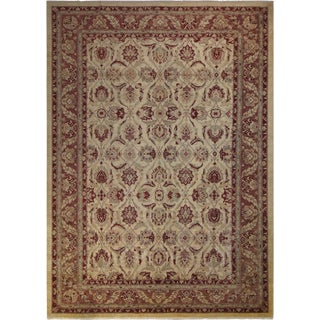 Kafkaz Peshawar Cecelia Ivory/Brown Wool Rug - 10'1 X 13'10
