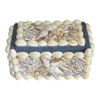Mid-Century Vintage Shell Jewelry Box